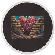 Fortress Around Your Heart Round Beach Towel