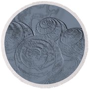 Fossils Round Beach Towel