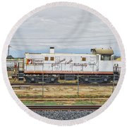 Foster Farms Locomotive Round Beach Towel