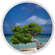 Fototi Tree - Aruba Round Beach Towel