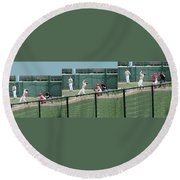 Foul Ball 3 Panel Composite Round Beach Towel