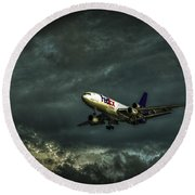 Foul Weather Fedex Round Beach Towel