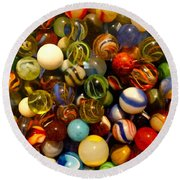 Found My Marbles Round Beach Towel