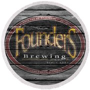 Founders Brewing Round Beach Towel