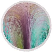 Fountain Art Round Beach Towel