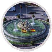 Fountain Of Cebeles II Round Beach Towel