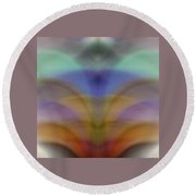 Fountain Of Pastel Color Round Beach Towel