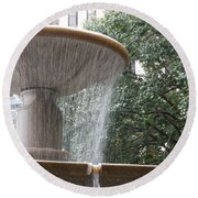 Fountain Of Yewts Round Beach Towel