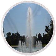 Fountain - Los Angeles County Arboretum And Botanic Garden Round Beach Towel