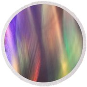 Fountains Of Color Round Beach Towel