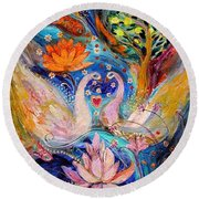 Four Elements Water Round Beach Towel