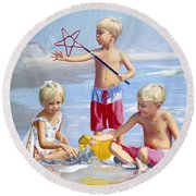 Four Five And Six Round Beach Towel