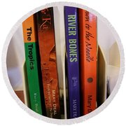 Four Of My Ten Books Published Round Beach Towel