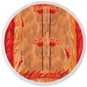 Four Of Wands Round Beach Towel