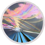 Four Planets Round Beach Towel