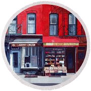 Four Shops On 11th Ave Round Beach Towel