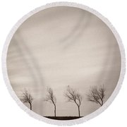 Four Trees Round Beach Towel