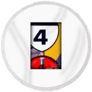 Four With Coke Round Beach Towel