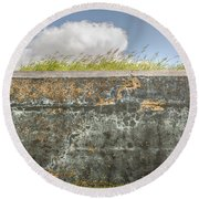 Fourt Moultrie Battery Jasper Wall Round Beach Towel
