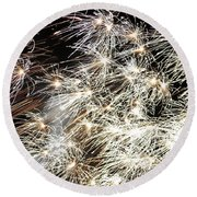 Fourth Of July Fireworks Round Beach Towel by Kim Bemis