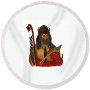 Fox Brave 1836 Round Beach Towel