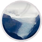 Fox Glacier On South Island Of New Zealand Round Beach Towel
