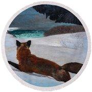 Fox Hunt 1893 Round Beach Towel