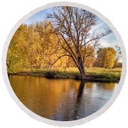 Fox River-jp2419 Round Beach Towel