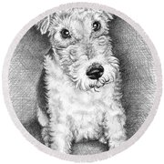 Foxterrier Round Beach Towel