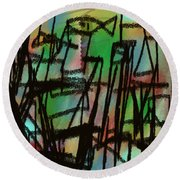 Iguacu Round Beach Towel