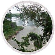 Foz Do Iguacu Round Beach Towel
