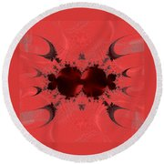 Fractal 003 Round Beach Towel