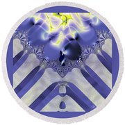Fractal 006 Round Beach Towel
