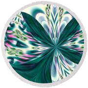 Fractal 011 Round Beach Towel