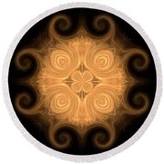 Fractal 013 - 1 Round Beach Towel