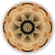 Fractal 013-2 Round Beach Towel