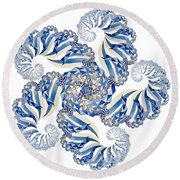 Fractal 1 Round Beach Towel