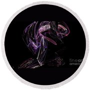 Fractal 32 For Mom Round Beach Towel