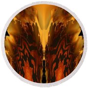 Fractal Abstract 15-01 Round Beach Towel