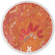 Fractal - Abstract - Japanese Motif Round Beach Towel