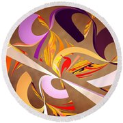 Fractal - Abstract - Space Time Round Beach Towel by Mike Savad