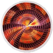 Fractal - Abstract - The Constant Round Beach Towel
