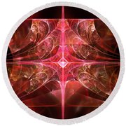 Fractal - Abstract - The Essecence Of Simplicity Round Beach Towel