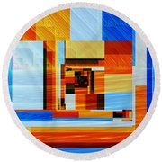 Fractal Abstract11 Round Beach Towel