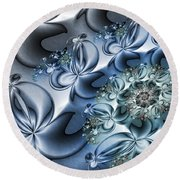 Fractal Dancing The Blues Round Beach Towel