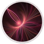 Fractal Dancing With The Light Round Beach Towel