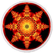 Fractal In The Centre Round Beach Towel
