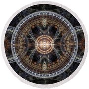 Fractal Inception Round Beach Towel by Martin Capek