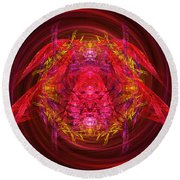 Fractal - Insect - Jeweled Scarab Round Beach Towel