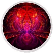 Fractal - Jewel Of The Nile Round Beach Towel